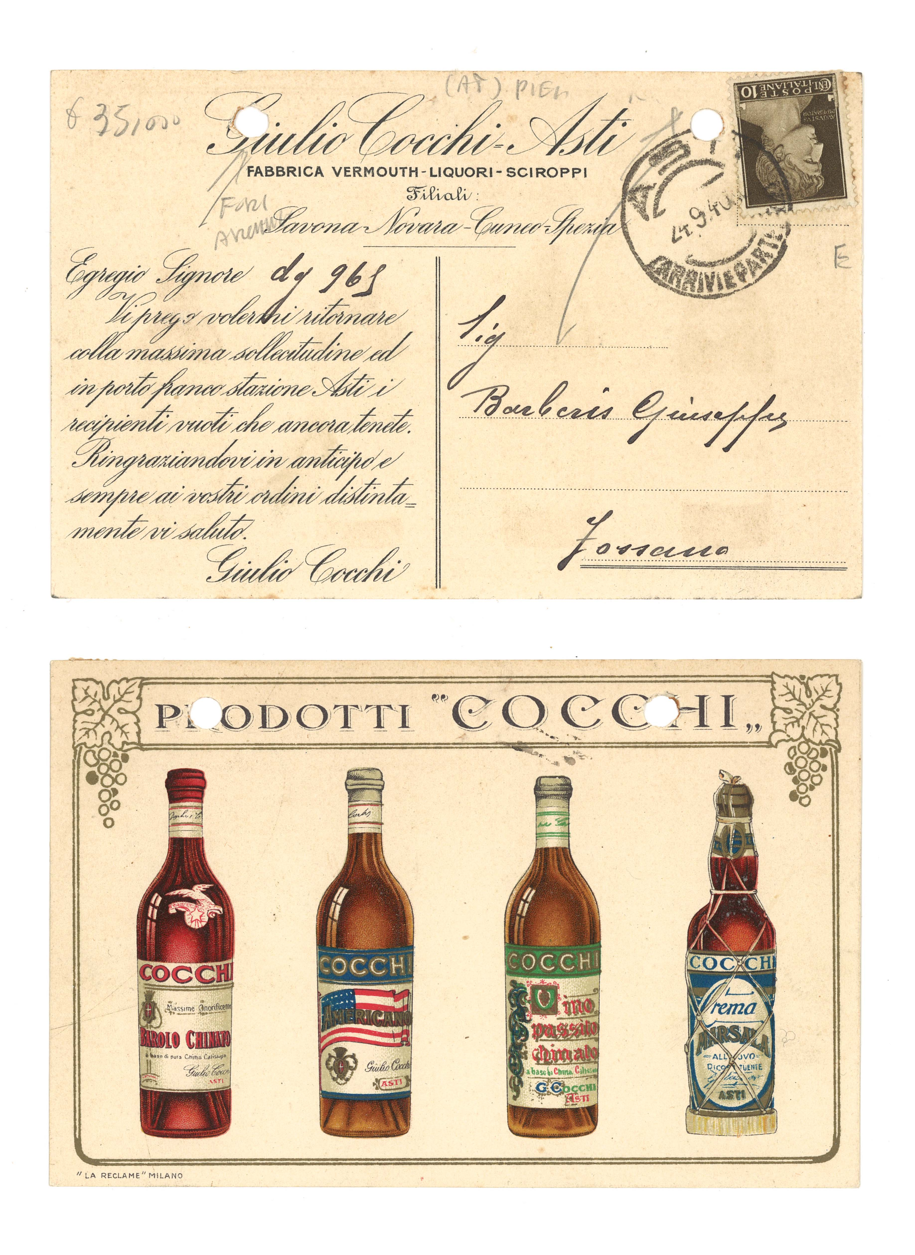 Cartolina Cocchi